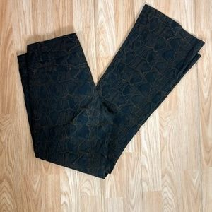 Cache Luxe Crocodile Print Pants